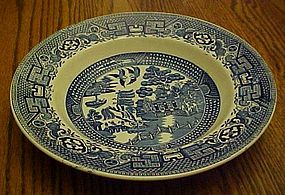 Swinnertons blue Old Willow rimmed cream soup bowl