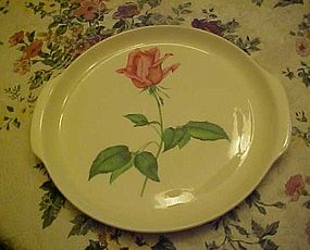 Vintage Harmony House Betsy Rose 11.5  handled cake plate