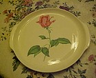 Vintage Harmony House Betsy Rose 11.5  handled cake plate