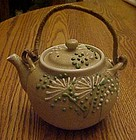 Japanese teapot applied glass decoration 2 cup