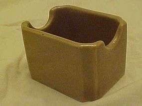 Vintage Hall China 716 Tan restaurant sugar pkg  holder