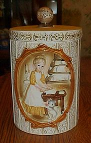Vintage Sears Victorian ladies in kitchen cookie Jar