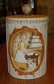 Vintage Sears Victorian ladies in kitchen cookie Jar