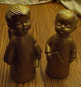 Vintage Dickson gold boy and girl choir angels