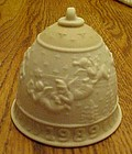 Lladro 1989 Christmas angels porcelain bell
