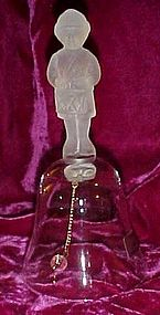 Leonard Little Drummer Boy crystal hand blown bell