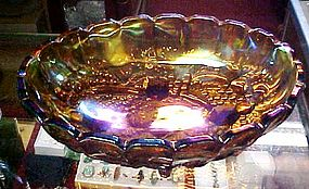 Indiana Gold carnival Garland oval footed fruit bowl