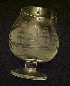 Toscany Clipper Ship small brandy glass 3 1/2""