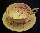 Coalport bone china Cairo cup and saucer set Pink