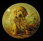 Caught in the act  Field puppies golden retriever plate