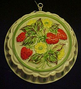 Gailstyn-Sutton Strawberries ceramic jello food mold