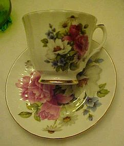 Duchess floral bone china tea cup and saucer England