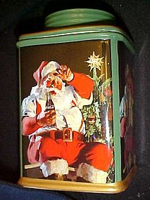 Sakura Coca Cola Santa air tight canister cookie jar
