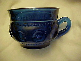 Colonial Blue kings crown cup by Indiana glass