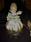 Vintage May Birthday angel night light lamp