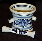 Squibb delft Rx miniature mortar and pestle