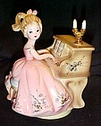 Josef Originals Girl at a piano figurine  musical