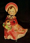 Bradley California Creations girl with basket figurine