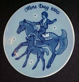 1970 Mors Dag  limited edition plate Porsgrunds Norway