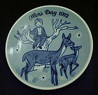 Mors Dag 1972 limited ed delft plate Porsgrunds Norway