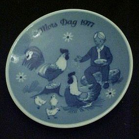 1977 Mos Dag limited ed delft plate Porsgrunds Norway