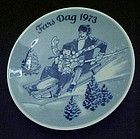 1973 Fars Dag delft limited ed plate Porsgunds Norway