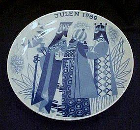 Julen1969 Limited Ed delft plate Porsgrund Norway
