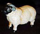Cast iron painted sheep figurine