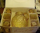 Anchor Hocking Honey gold Lido beverage set in  box