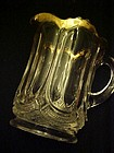 EAPG Galloway cream pitcher U S Glass gold edge 1905