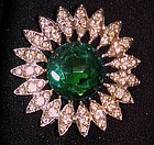 Sarah Coventry Kathleen emerald rhinestone pin
