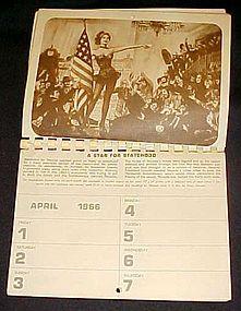 Harolds Club reno apointment calendar 1966 NV Centenial