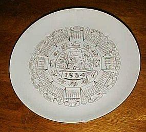 Vintage 1954 Zodiac Calendar plate