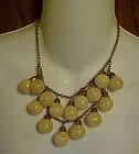 Antique celluloid bauble balls necklace