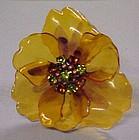 Amazing poppy pin with rhinestone center