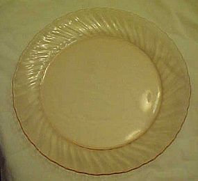Arcoroc France pink swirl Torsade glass dinner plate 9""