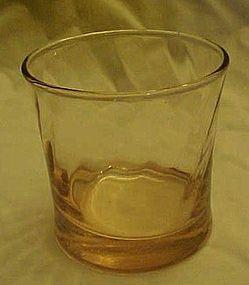 "Pink swirl highball rocks glass 3.50"""