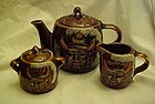 Vintage American Indian teapot creamer and sugar