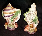 Fitz and Floyd Classic Oceana shell salt pepper shakers