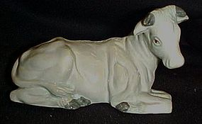 Avon porcelain Nativity ox figure by Tom O'brian