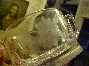 EAPG creamer and sugar wheel cut floral