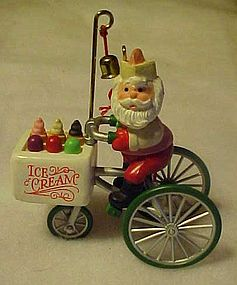 Hallmark Kringle's Kool Treats Santa ornament 1986