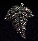 Beautiful Weiss Marcasite leaf pin