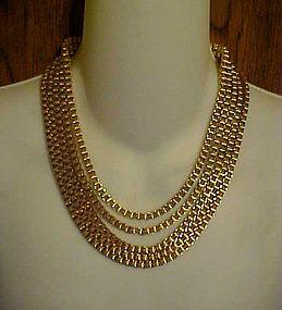 Great Monet designer chunky link 5 strand bib necklace
