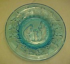 Tiara nursery rhyme aqua  turquoise plate Three Bears