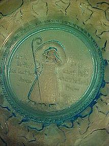 Tiara aqua turquoise nursery rhyme plate Little Bo Peep