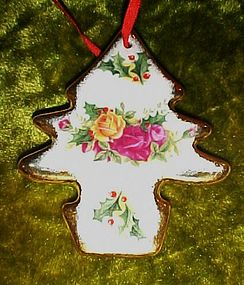 Royal Albert Country Roses Christmas ornament #2 tree