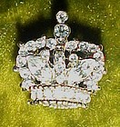 Sparkling Rhinestone crystals crown pin