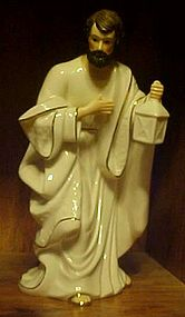 Large white porcelain w/ gold Joseph nativity figurine
