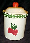 Treasure Craft Garden Patch  radishes cannister
